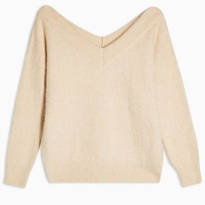 NWT Topshop V-Neck Long Sleeve Sweater